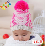 Детская шапочка ш12 (бел-роз)