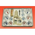Вакуумные магнитные присоски 12шт. + масло массажное