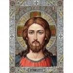 """Алмазная вышивка """"Икона Иисус"""" 20/27 см."""