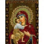 "Алмазная вышивка 3D ""Дева Мария с младенцем"". 30/40см"